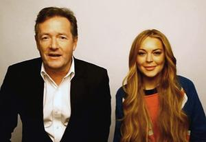 Piers Morgan, Lindsay Lohan | Photo Credits: CNN
