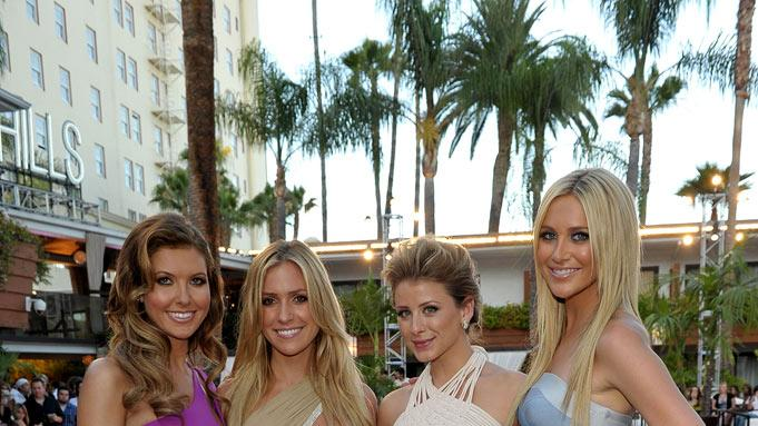 "Audrina Patridge, Kristin Cavallari, Lauren Bosworth and Stephanie Pratt attend MTV's ""The Hills Live: A Hollywood Ending"" Finale event held at The Roosevelt Hotel on July 13, 2010 in Hollywood, California."