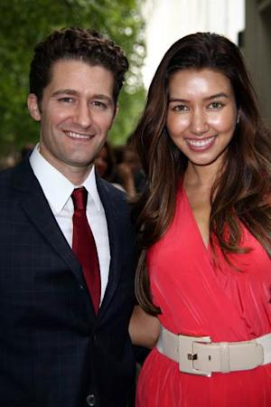 Matthew Morrison and Renee Puente attend the BNP Paribas Tennis Classic at The Hurlingham Club on June 18, 2013 in London -- Getty Premium