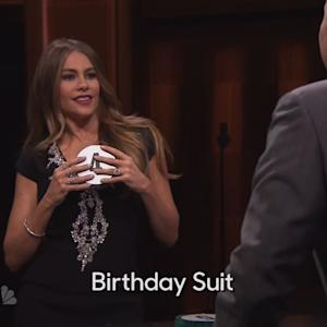Sofia Vergara Reveals to Jimmy Fallon that She Sleeps Naked During Game of Catchphrase