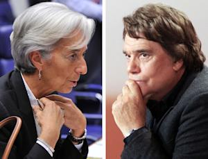 IMF chief Christine Lagarde (L) was placed under formal …