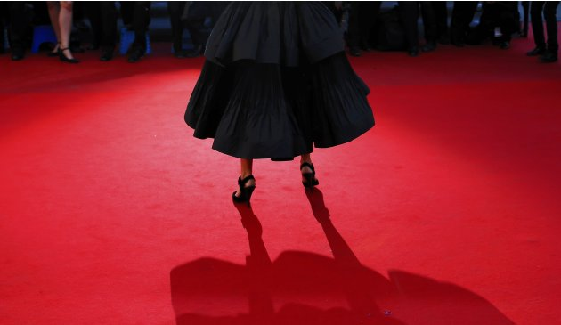 "Mistress of Ceremony actress Audrey Tautou arrives for the screening of the film ""La Venus a la Fourrure"" in competition during the 66th Cannes Film Festival"
