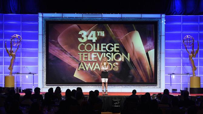 Cat Deeley onstage at the 34th College Television Awards presented by the Academy of Television Arts & Sciences Foundation at the JW Marriott Los Angeles L.A. Live on April 25, 2013 in Los Angeles, California. (Photo by Phil McCarten/Invision for the Academy of Television Arts & Sciences/AP Images)