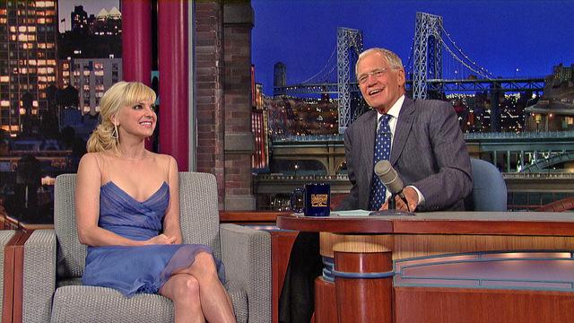 "David Letterman - ""Mom"" Star, Anna Faris"