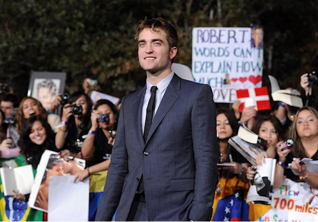 The Twilight Saga Breaking Dawn Part 1 2011 LA Premiere Robert Pattinson