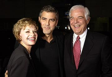 George Clooney and his parents at the LA premiere of Universal's Intolerable Cruelty