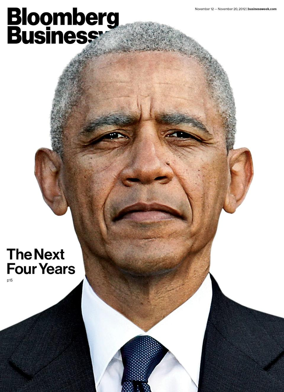 Obama Ages Four Years in Striking 'Bloomberg Businessweek' Cover [PICS]