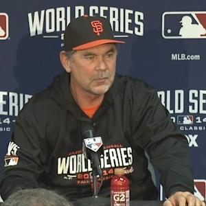 Raw Video: Giants Manager Bochy Ahead Of World Series