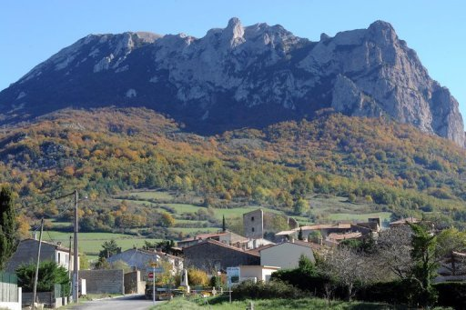 View of Pic de Bugarach in southwestern France. France has dashed the hopes of those who had planned to take refuge in one of the few places on Earth some believe will be spared when the world ends on December 21