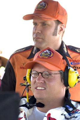 Will Ferrell and director Adam McKay on the set ofColumbia Pictures' Talladega Nights: The Ballad of Ricky Bobby