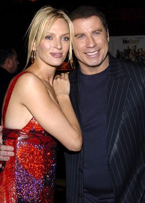Uma Thurman and John Travolta at the Hollywood premiere of MGM's Be Cool