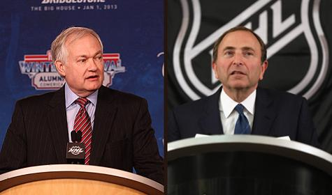NHLPA executive director Don Fehr and NHL commissioner Gary Bettman Getty Images