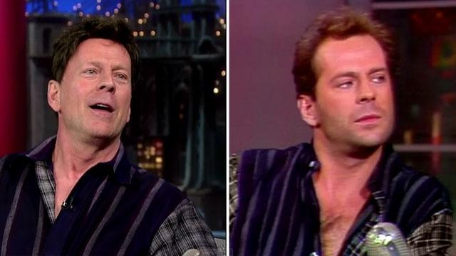Bruce Willis' 1985 Hair Returns to the 'Late Show'