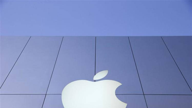 An Apple logo is seen during Black Friday in San Francisco in this file photo