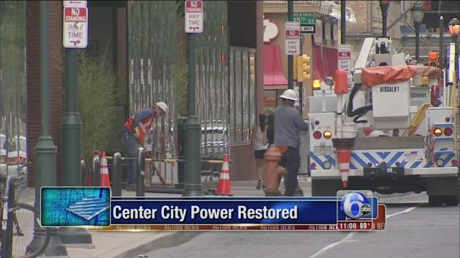 Power restored to thousands in Center City