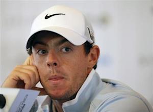 Rory McIlroy attends at a news conference ahead of Koron Korea Open Golf Championship in Seoul