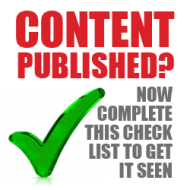 Content Published? Now Complete This Checklist to Get it Seen image content promotion checklist