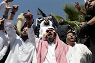 Jordanian protesters shout slogans during a demonstration against an amateur film mocking Islam near the US embassy in Amman on September 14. Google has agreed to block all links connecting Internet users in Jordan to an anti-Islam film made in the United States that has stirred outrage across the Muslim world, a Jordanian minister said on Saturday