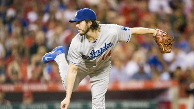 Dan Haren pitches Dodgers past Angels, 2-1
