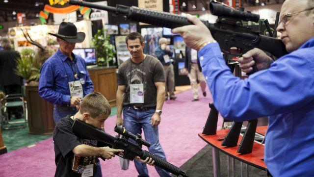 America's absurd love affair with guns can only be fought with something even more absurd