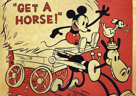 The poster for Disney's 'Get A Horse!'
