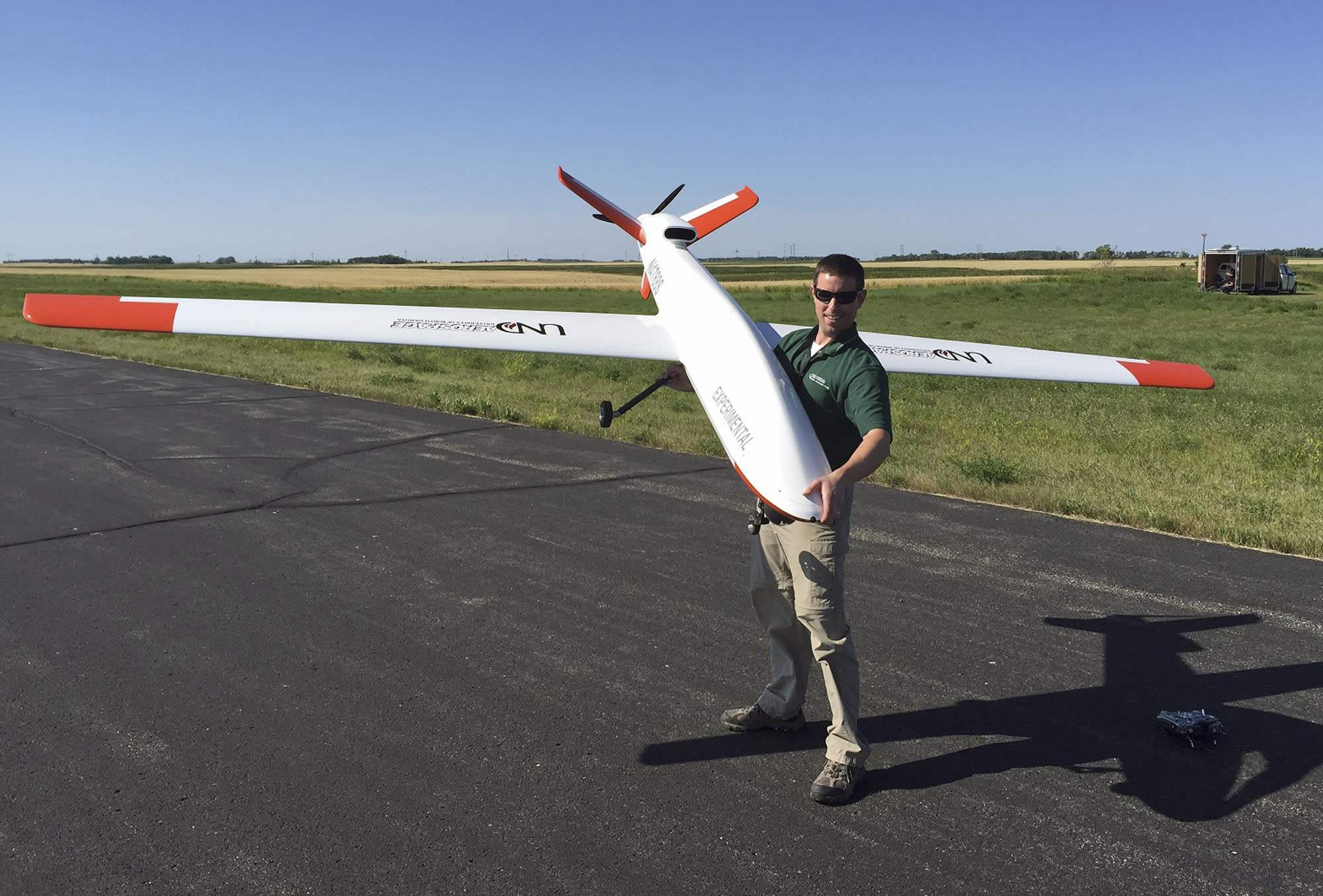 UND test pilots fly drone into public airport for 1st time