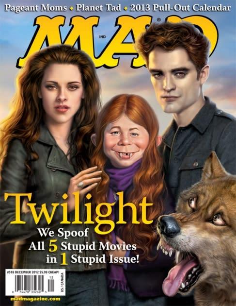MAD Magazine's December 2012 issue spoofing 'Twilight's' Robert Pattinson and Kristen Stewart  -- MAD Magazine