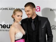 Actor Chad Michael Murray and fiancee Kenzie Dalton (L) arrive at the 2013 Elton John AIDS Foundation Oscar Party in West Hollywood, California, February 24, 2013. REUTERS/Gus Ruelas