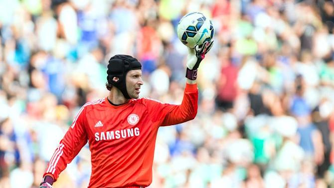 Chelsea's Czech goalkeeper Petr Cech pictured during a friendly against Olimpija Ljubljana at the Stozice stadium in Ljubljana on July 27, 2014