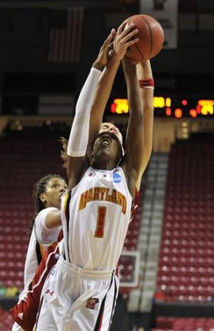 No. 2 seed Maryland women defeat Louisville 72-68