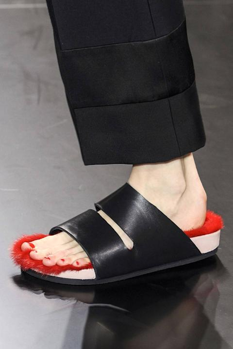 Céline Mink Lined Sandals, S/S 2012