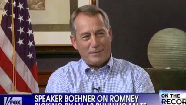 Boehner Auditions as the Republican Liberals Kind of Like