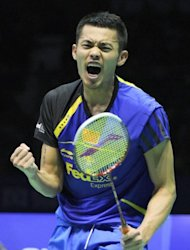 Lin Dan of China plays in badminton's Thomas Cup in Wuhan, Hubei province in May. Lin is regarded by many people as the greatest player of all time, and if the elastic left-hander lives up to that billing it could well bring curtains for Taufik Hidayat as early as Wednesday week (August 1st)