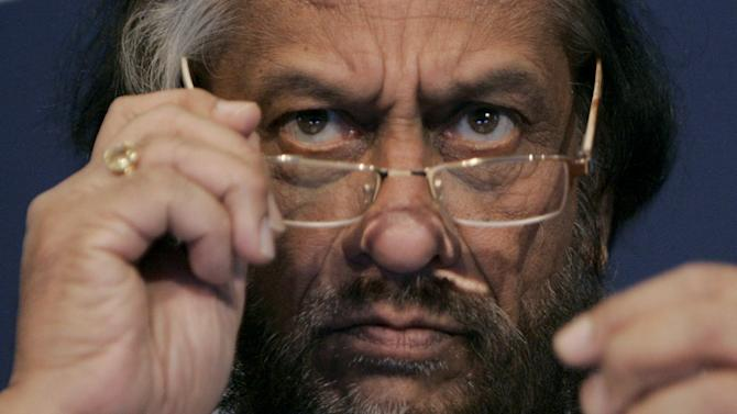 File photo of Nobel Peace Prize Winner Pachauri attending a session of the World Economic Forum in Davos