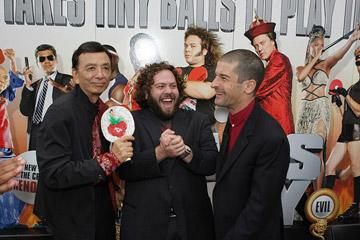 James Hong , Dan Fogler and director Ben Garant at the Los Angeles premiere of Rogue Pictures' Balls of Fury