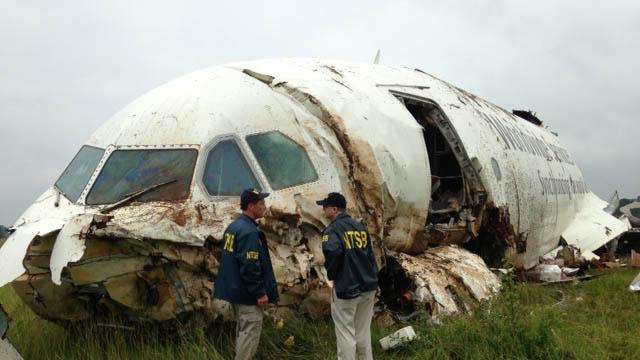 Crash investigation focuses on tail section of jet