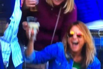 Cubs fan catches ball in beer, then chugs beer