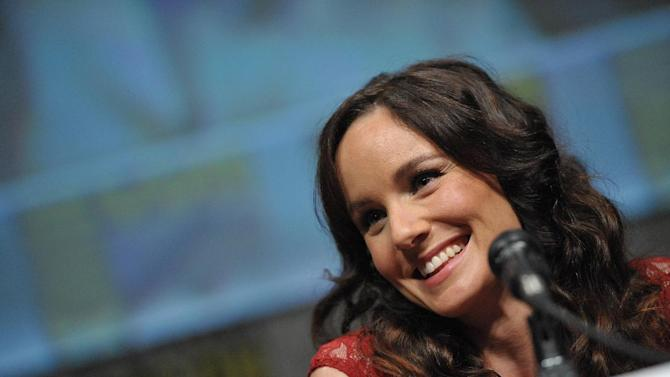 """COMMERCIAL IMAGE -  Sarah Wayne Callies at AMC's """"The Walking Dead"""" Autograph Signing and Panel on Friday July 13, 2012, in San Diego. (Photo by John Shearer/Invision for AMC/AP Images)"""