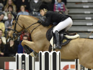 Australian showjumper Edwina Tops-Alexander has won the the World Cup showjumping event in Geneva