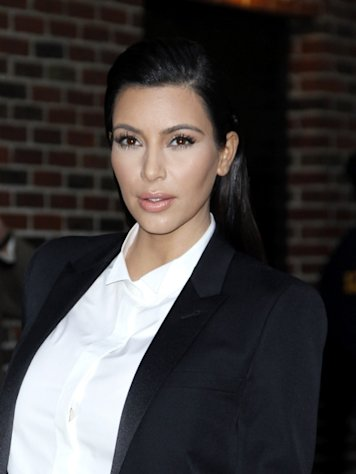 Kim Kardashian arrives for &#39;The Late Show with David Letterman&#39; at Ed Sullivan Theater on January 16, 2013 -- Getty Images