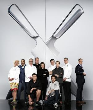 Competitors in 'The Next Iron Chef,' a show that tapped, well, the next Iron Chef in the US.