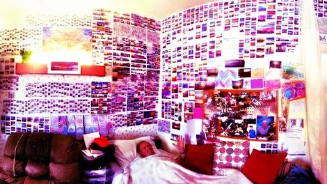Brian Curtis in his room of #SkyBluePink