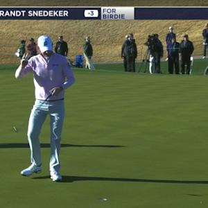 Brandt Snedeker spins it close from the desert at Waste Management