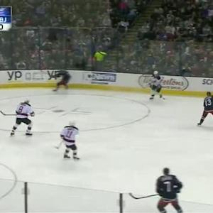 Cory Schneider Save on Cam Atkinson (10:31/2nd)