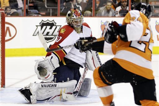 Bryzgalov leads Flyers over Panthers 5-0