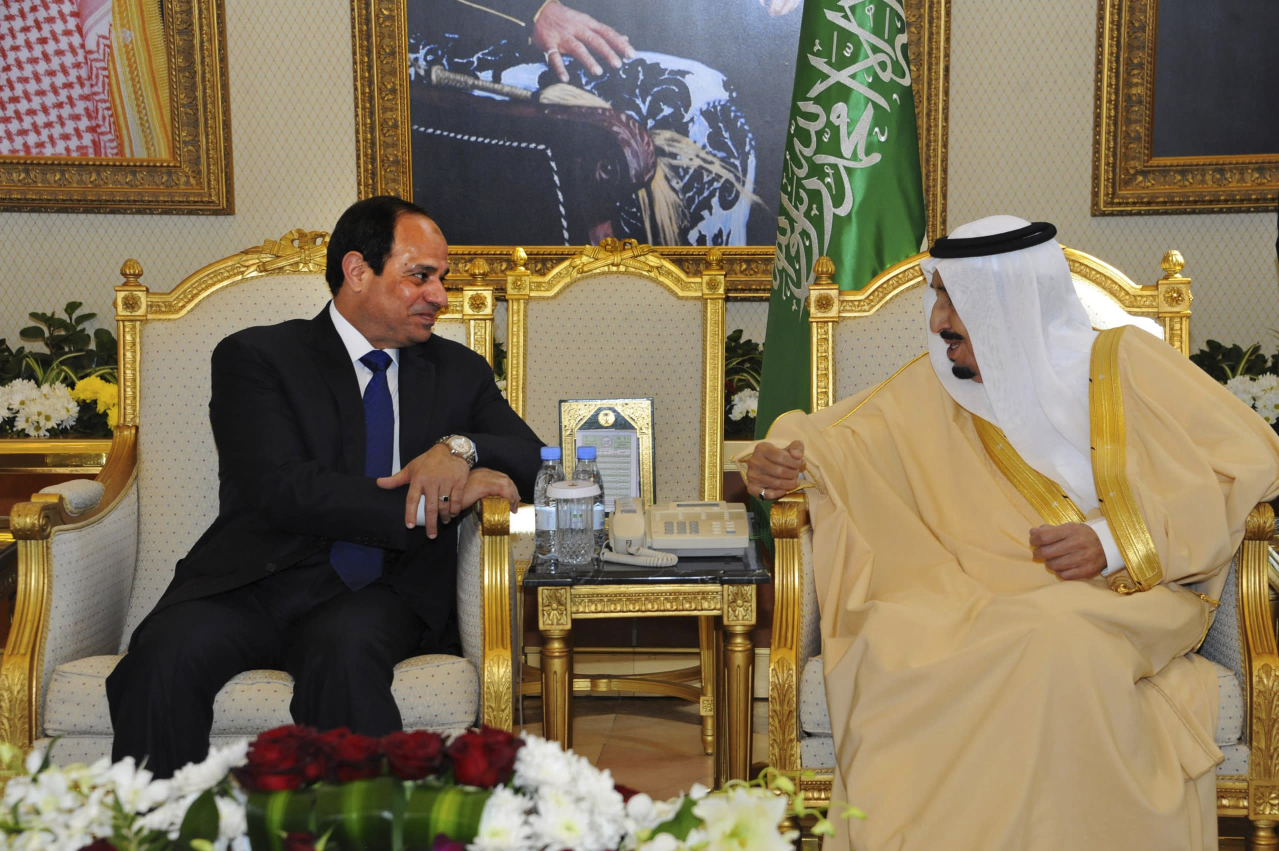 Egypt's president in Saudi Arabia for talks with new king