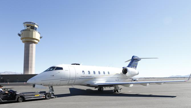 The Bombardier Challenger 300 at The Hollywood Reporter's Palm Springs Shuttle presented by Bombardier Business Aircraft - Day 2, on Saturday, January 5, 2013 in Palm Springs, California. (Photo by Todd Williamson/Invision for Bombardier/AP Images)