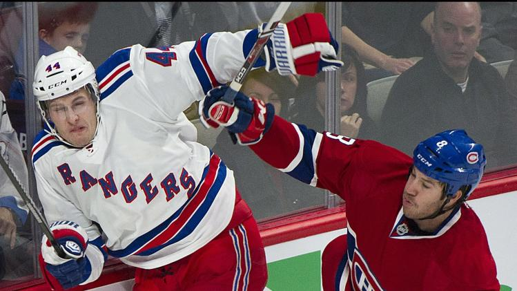 Rangers shut out Canadiens 1-0