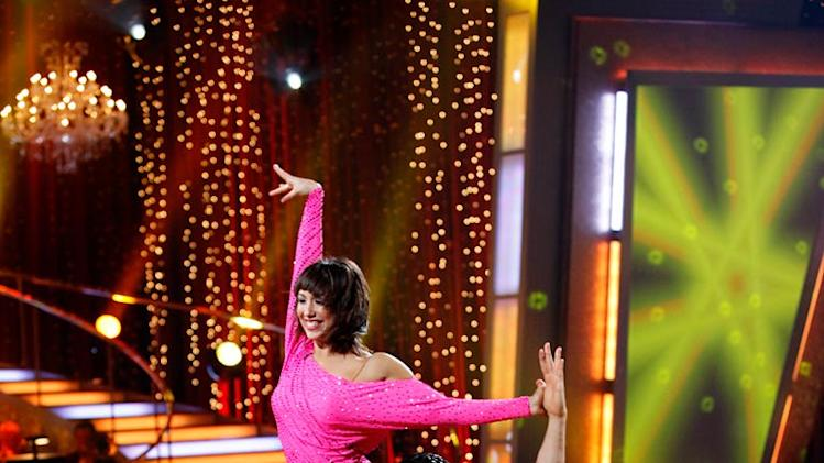 "Gilles Marini and Cheryl Burke perform a freestyle to ""Flashdance (What a Feeling)"" by Irene Cara on ""Dancing with the Stars."""