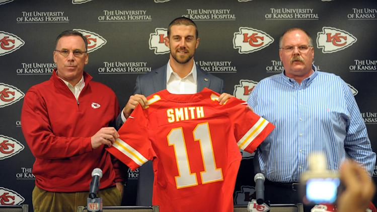 NFL: Kansas City Chiefs-Alex Smith Press Conference